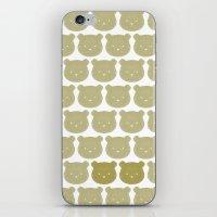 teddy bear iPhone & iPod Skins featuring Teddy by ColourMoiChic