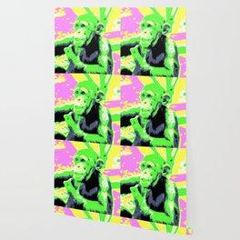 Pop Art Young Chimp Wallpaper