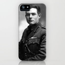 Ernest Hemingway in Uniform, 1918 iPhone Case