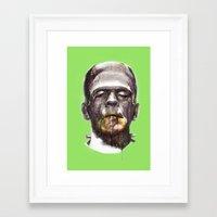 frankenstein Framed Art Prints featuring Frankenstein by beart24