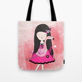 Flavia and Flamingo Tote Bag
