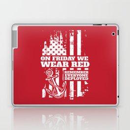 On Fridays We Wear Red Navy Family Laptop & iPad Skin