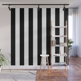 Vertical Stripes (Black/White) Wall Mural