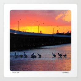 Forster Bridge Sunset Art Print