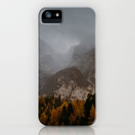 Moody Fall Dolomites iPhone Case