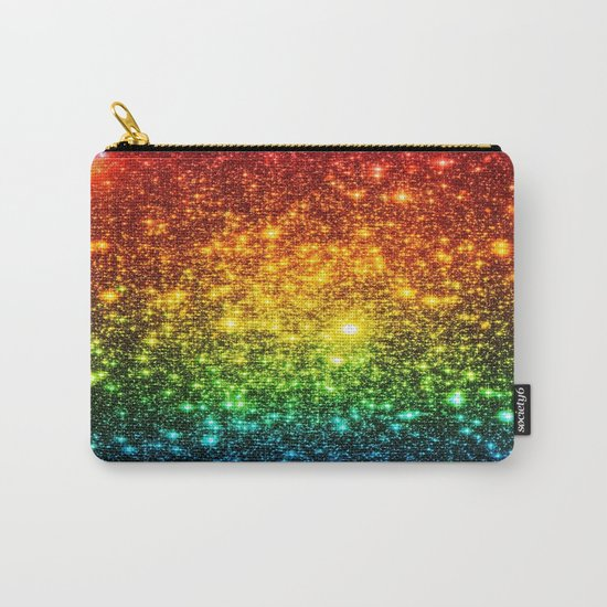 RainBoW Sparkle Stars Carry-All Pouch