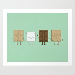 Life is S'more Fun Together (Mint) Art Print