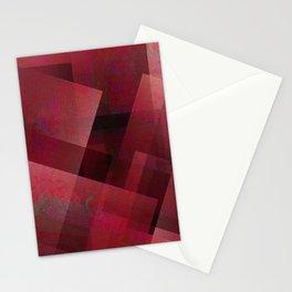 Ravishing Red - Digital Geometric Texture Stationery Cards