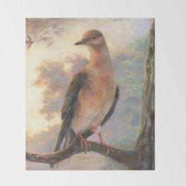 Passenger Pigeon - Martha Finds Her Flock  Throw Blanket