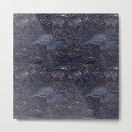 Blue marble pattern Metal Print