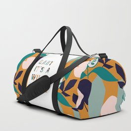 Baby It's a Wild World Duffle Bag