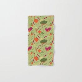 A Day in the Garden - Green Hand & Bath Towel