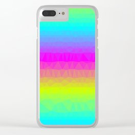 Neon Stripes Clear iPhone Case