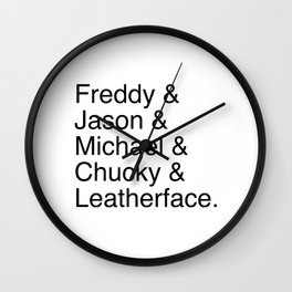 Horror's Best Wall Clock