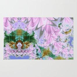 Lilac Dreams Fractal Abstract Rug
