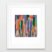 arya Framed Art Prints featuring summer scribbles 2 by Agnes Bak