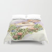 hare Duvet Covers featuring Hare by Jen DesRoche