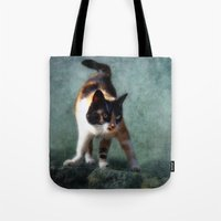 street fighter Tote Bags featuring street fighter by lucyliu