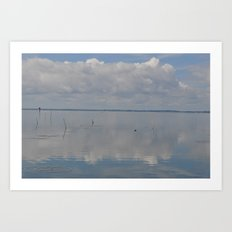 Picture Perfect Blue Sky Water Bay Scene Landscape  Art Print