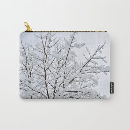 Trees in the snow Carry-All Pouch