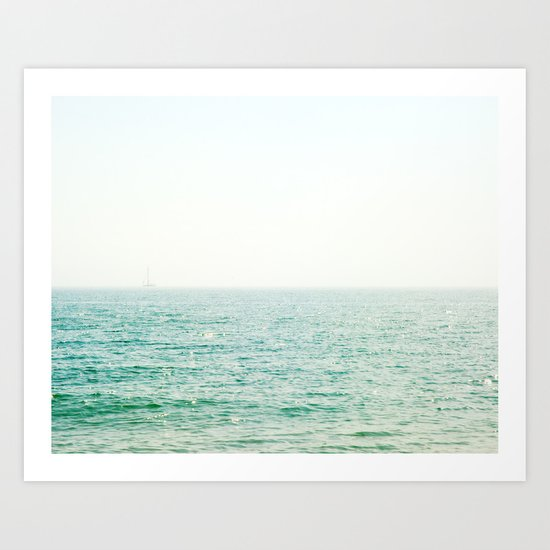 Ocean Ghost Ship Art Print