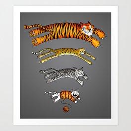 Wi-Fi Cats Art Print