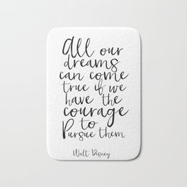 PRINTABLE WALL ART. All Our Dreams Can Come True,Motivational Poster,Children,Kids Gift,Kids Room Bath Mat