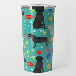 Black Lab dog toys cute dog breeds black labrador retriever gifts pet friendly Travel Mug