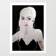 Very Bad Wolf Art Print