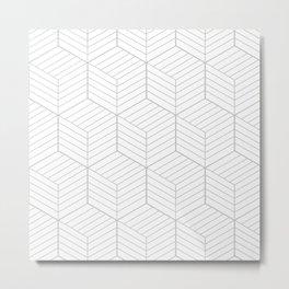 ZADA ((calm gray)) Metal Print
