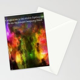"""Religion Is Childsplay"" by surrealpete Stationery Cards"