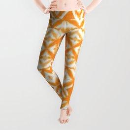 Breeze Block Shibori Tangerine Leggings