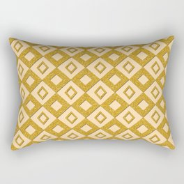 Gold Diamonds Rectangular Pillow
