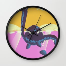 Cute Monster Swimming Wall Clock
