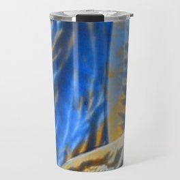 Blue Orange Abstract Travel Mug