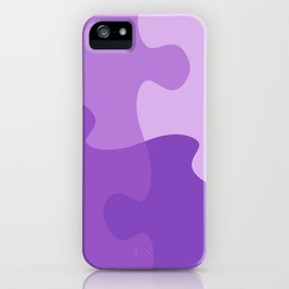 Pastel Ultra Violet Puzzle Pattern Jigsaw Pieces iPhone Case