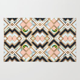 Art deco geometric pattern Rug