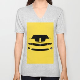 yellow car Unisex V-Neck