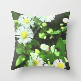 June Wildflowers Throw Pillow