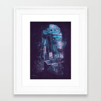 r2d2 Framed Art Prints featuring R2D2 by Sitchko Igor