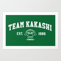 kakashi Art Prints featuring Team Kakashi by Tsundere in the Sheets