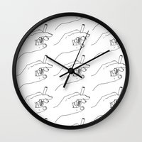 cigarette Wall Clocks featuring Cigarette Smoker by Katie Rosealea