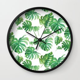 Topical Leaves Wall Clock