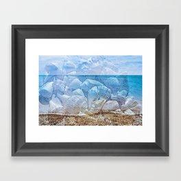Sea shore sea. Shells Framed Art Print
