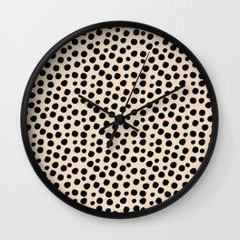 Irregular Small Polka Dots black Wall Clock