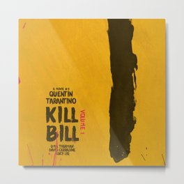 Kill Bill, Quentin Tarantino Movie Poster, Alternative film playbill Art, Uma Thurman, Lucy Liu Metal Print