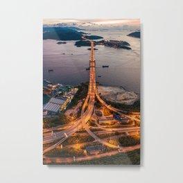 Tsing Ma Bridge Metal Print