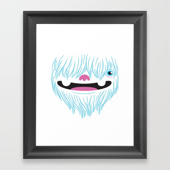Happy Yeti Framed Art Print
