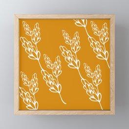 botanical lines Framed Mini Art Print