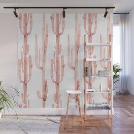 Pink Coral Cactus Climb Wall Mural